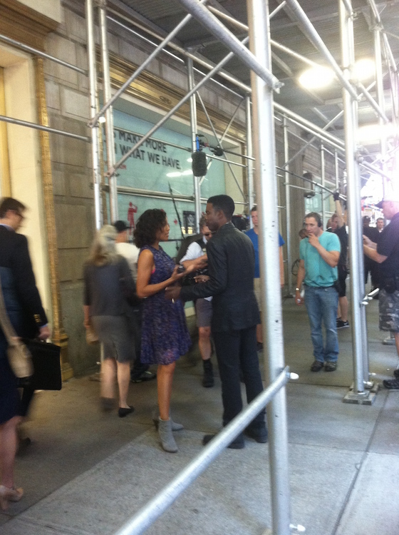 """I took this photo in the summer of 2013 when we saw Chris Rock and Rosario Dawson filming """"Top Five"""""""