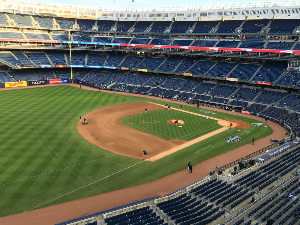 Opening week at Yankee Stadium in The Bronx