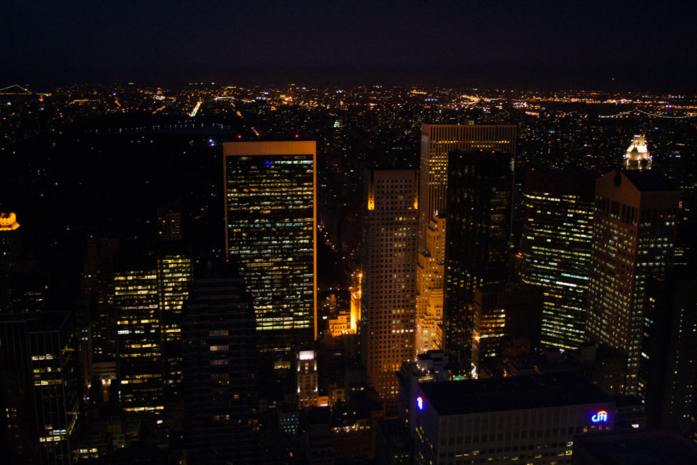 View from the Top of the Rock, NYC
